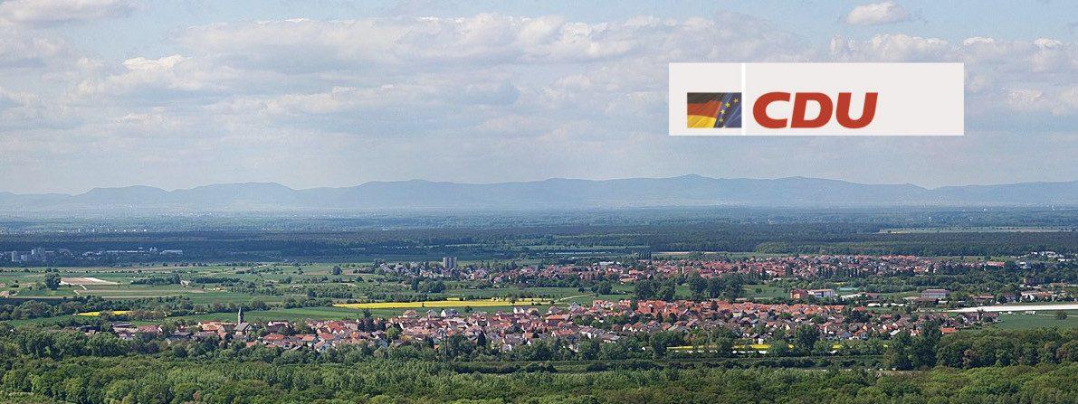 Büchenau vom Michaelsberg aus gesehen